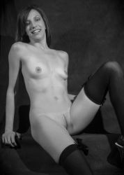 Chelsea in Black Stockings by unionjack67