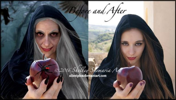 Witch before-and-after by SilentPlea