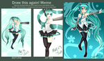 Before and After- V3 Miku by VynalLine