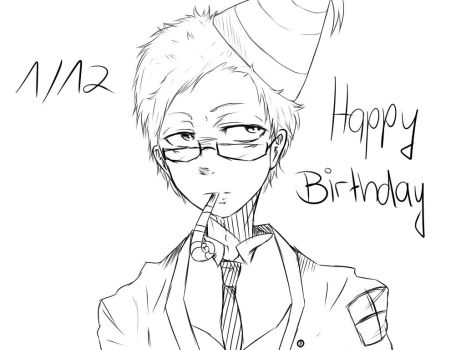 HAPPY BIRTHDAY JUNICHIROU by drawerxe