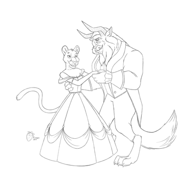 Beauty and the Beast by Straw-Bear