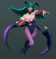 Morrigan with some color! by HazardousArts