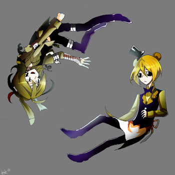 Springy and Goldie (Five nights at freddy's) by Kristina1224