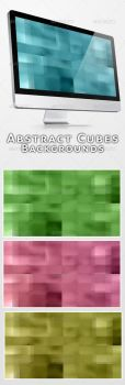 Abstract Cubes Backgrounds by feketeandreimihai