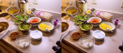 Stereograph - Taco Ingredients by alanbecker