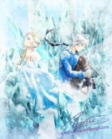 Embraced by Snow and Ice by AnniFlamma