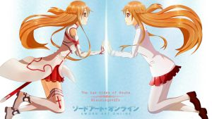 The two sides of Asuna by BlackLegendZz