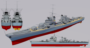 Justice-class Destroyer Pre-1950 Refit by TheoComm