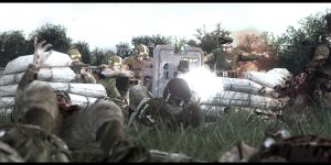 8th Cadian MG squad repel a Heretic Bayonet charge by Slim-Charles