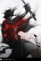 Samurai Spirit 5 Poster by deviantWEAR