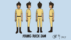 Young Rock Sam Reference Sheet 02 - Full Body by Its-Joe-Time