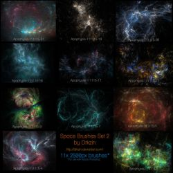 Galactic Space Brushes Set 2 by drkzin