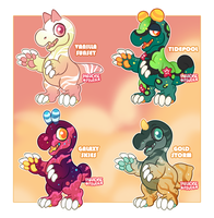 Snapadile Chibis Auction CLOSED by ParadiseFever