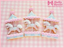 Biscuit Merry-Go-Round Necklace by SweetDollyHouse