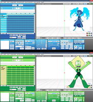 MMD Lapis and Peridot UI color DL by ScarlettAckerman