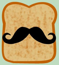 Mustache and toast by kuratha