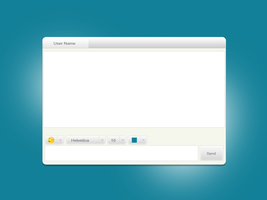 Simple Chat Window Psd by iulzi