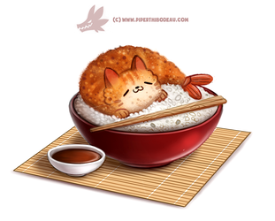 Daily Paint 1298. Shrimp Tempurra by Cryptid-Creations