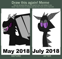 Draw This Again! Minecraft Enderdragon by DACOLLIEOF2017