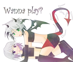 Commision: Wanna Play? by Doominatrix