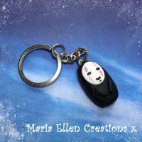 No Face Spirited Away keychain by MariaEllenCreations