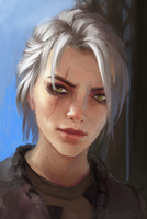 Quick sketch of Ciri by pearl-of-light