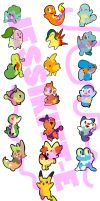Pokemon Stickers (FOR SALE) by LordBoop
