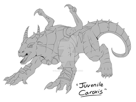 Commission: Caroxis Juvenile Form by Blabyloo229
