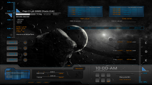 Defcon-1 Rainmeter skin by Clipsy-Moon