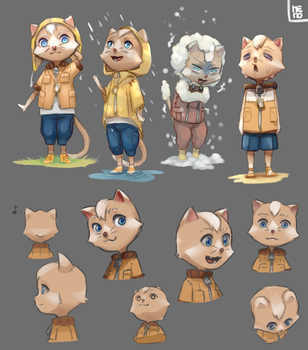 Chara-design CAT by Memo-ru