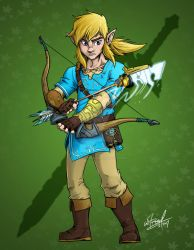 BOTW Link by wheretheresawil