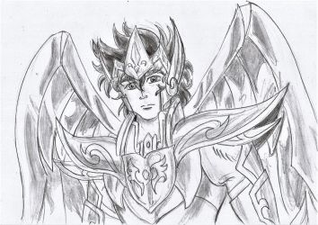 Sagittarius God Cloth Aiolos sketch by Aioros-sama