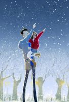 Winter night by PascalCampion