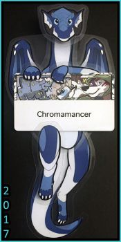 Chroma Hinged Badge by Chromamancer