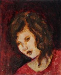 Quietude - Miniature Painting by Orchid-Black