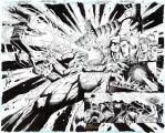 TEEN TITANS #97 DOUBLE-PAGE SPREAD Epic Original by DRHazlewood