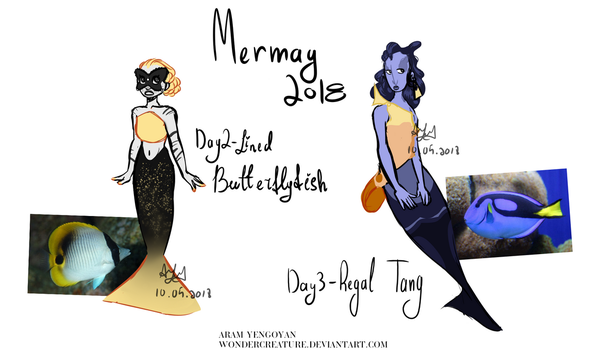 Mermay2018- Day 2 and 3 (ADOPTS) (0/2 Closed) by WonderCreature