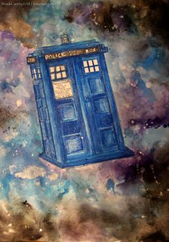 Tardis Painting by WordsCantSayItAll