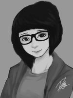 Cute girl with glasses by reijubv
