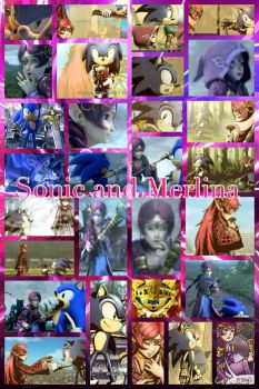 Sonic and Merlina by PrincessEmerald7