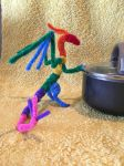 Advanced Rainbow Pipecleaner Dragon by IsellaHowler