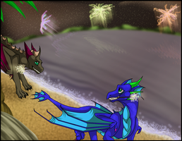 Collab:  At The Beach by xX-Starduster-Xx