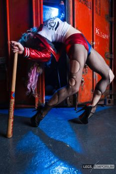 Harley Quinn is one Leggy and Crazy Woman - LE by LegsEmporium