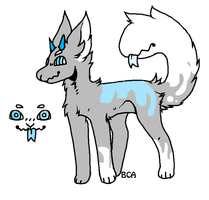 CLOSED Monster Doge Adoptable by Violeta-Adopts