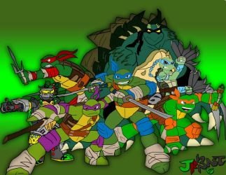 Turtle to the 7th Power by jrartist1229