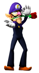 WALUIGI SUPER SMASH BROS ULTIMATE RENDER ARTWORK by supermariojumpan
