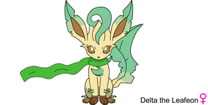 Delta the Leafeon by oxNight-Firexo