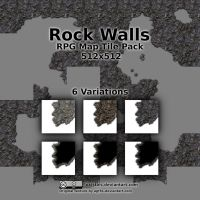 Rock Walls - Free RPG Map Tile Pack by Lokistics