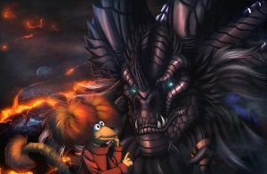 Neltharion meets a Fraggle by Ghostwalker2061