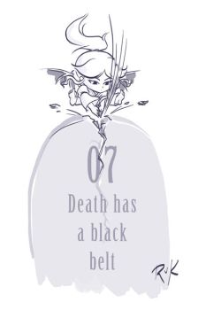 07 :: Death has a black belt by VoxGraphicaStudio